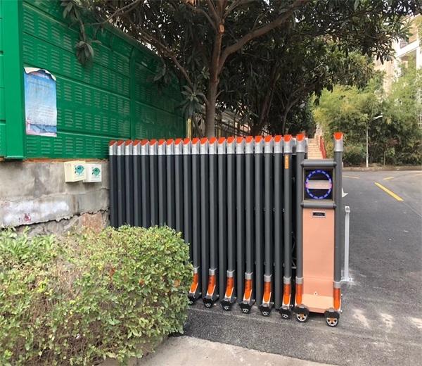 徐州湖西路天齐花园小区选择徐州门道智能科技电动伸缩门