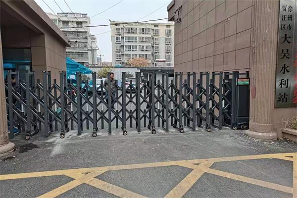 徐州市贾汪区大吴水利站选择徐州门道智能科技电动伸缩门产品
